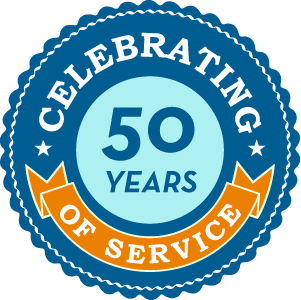 Celebrating 50 Years Badge